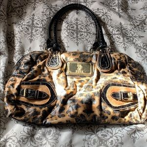 U.S polo assn. leopard print shoulder bag
